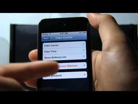 Change iPhone/iPod Touch/iPad Carrier Name on iOS 4.3.1/iOS 4.3.2+ or iOS 3 for FREE
