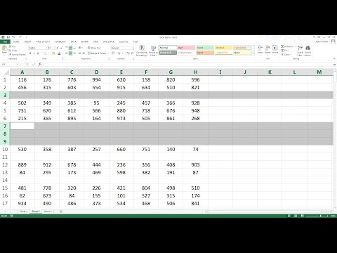 How to delete all blank rows in Excel in 3 seconds