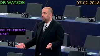 "UKIP - BILL ETHERIDGE ""UK SEATS SHOULD BE LEFT EMPTY AFTER BREXIT"" - 07.02.2018"