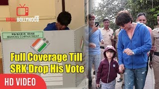 Shahrukh Khan With Family Casts Their Votes | Full Coverage Till SRK Drop His Vote