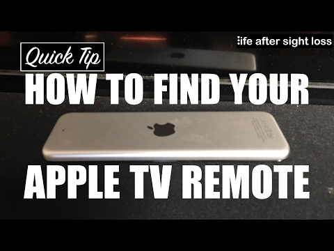 How to Find Your Apple TV Remote When You're Visually Impaired | Life After Sight Loss