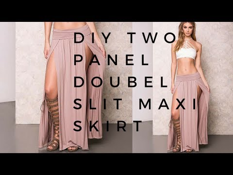 DIY Two Panel Double Slit Maxi Skirt | MIND SPACE |