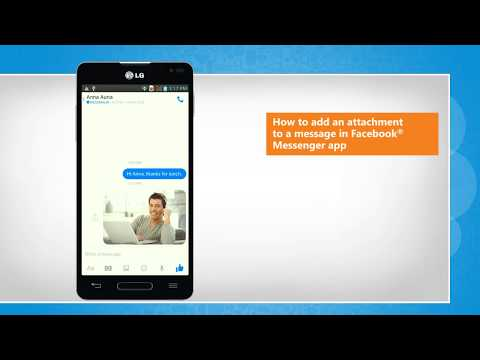 How to add a pic or attachement to a message in Facebook® Messenger app