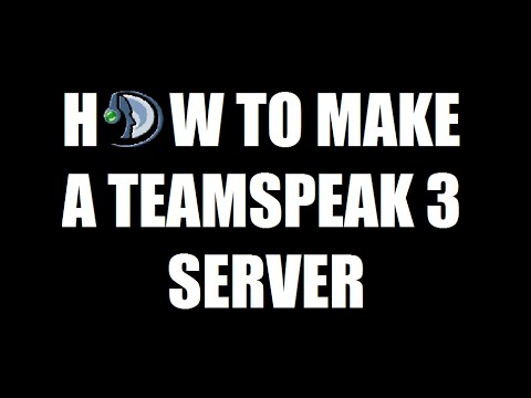 How To Make A Teamspeak 3 Server!!! (Windows PC Tutorial)