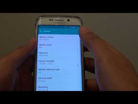 Samsung Galaxy S6 Edge: How to Check for Current Connected Network Type (LTE)
