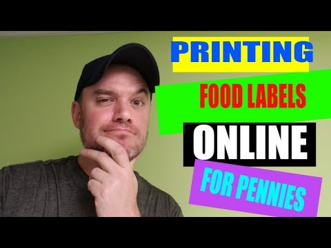Selling Food Online Tutorial Amazon Ebay Etsy Printing Labels for Pennies