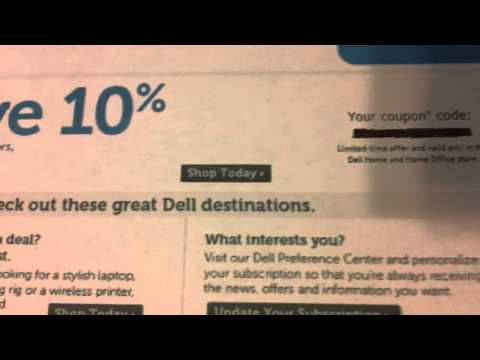 Dell 10% Off Coupon on Ebay
