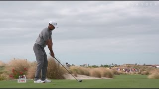 Tiger Woods' pre-round warm-up routine