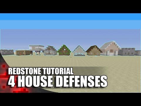 4 Redstone Defenses For Your House In Minecraft!