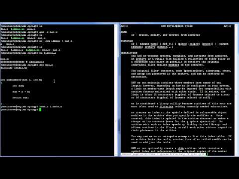 C Programming in Linux Tutorial #041 - Static Shared Libraries