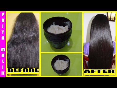 How to Get Straight Hair Naturally At Home || Hair Straightening Treatment~Silky Soft Straight Hair