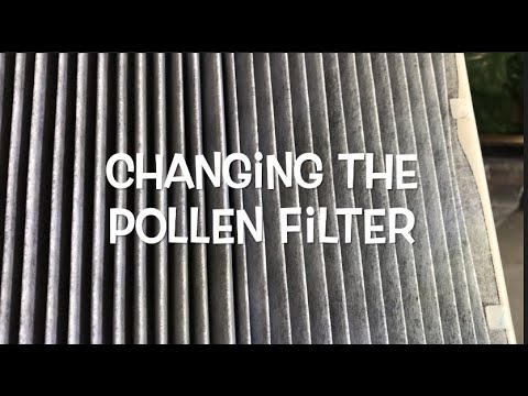 How to replace Toyota Camry Cabin air pollen filter (2012 and newer)