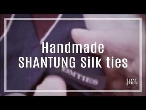 Handmade SHANTUNG silk ties