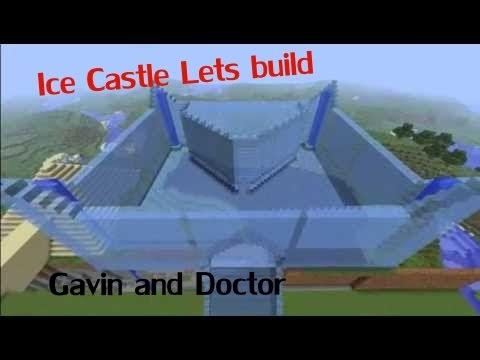 Minecraft Lets build Ice Castle part 1