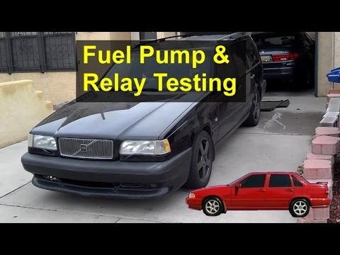 Random stalling, will not start, fuel pump and relay testing, Volvo 850, S70, V70, V70 XC, etc.