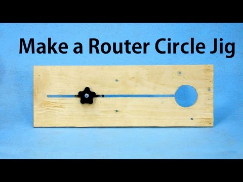 How to Make a Router Circle Jig -  a woodworkweb