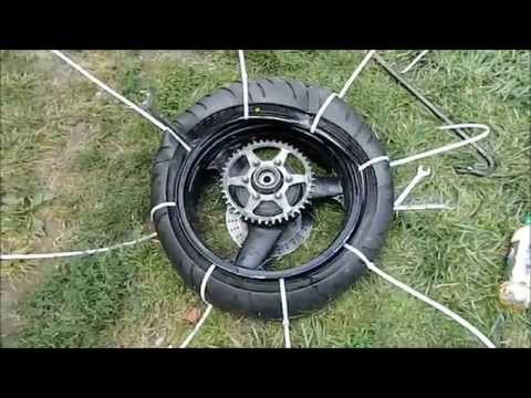 How To Mount a Motorcycle Tire Using Zip Ties