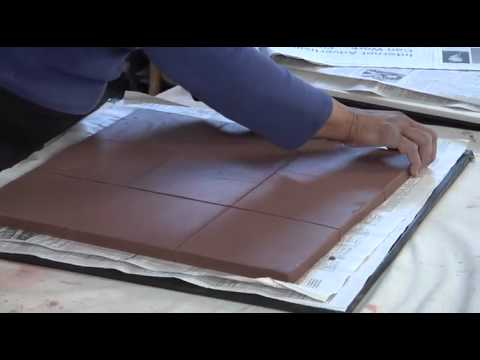 Pottery Video: Angelica Pozo - Cutting Tiles with 9-Tile Template System