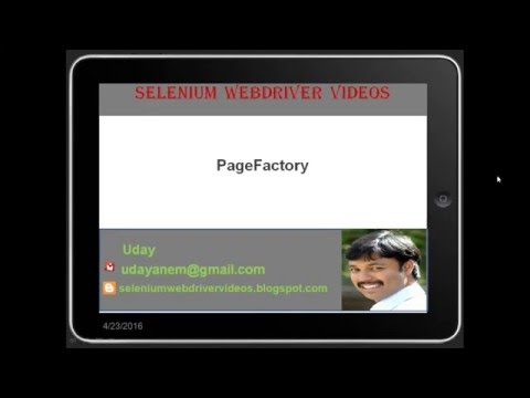 [Selenium WebDriver Videos]: What is Page Factory, how we use it with Selenium