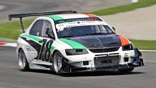 OnBoard 600HP Mitsubishi Lancer EVO VIII with Paddle Shifters! - Time Attack at Monza Circuit!