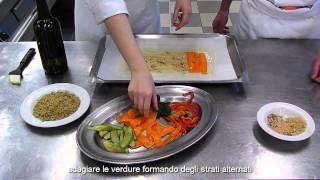 strudel di seitan e verdure con maionese vegana (antipasto 4^G natura nuova)