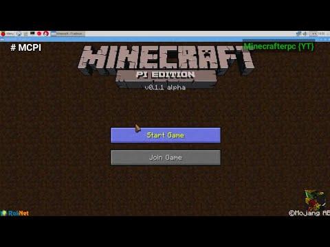 Minecraft PI 0.1.1 | MCPI 0.1.1 ALPHA UPDATE!! + OFFICIAL GAMEPLAY!! (Raspberry Pi Edition)