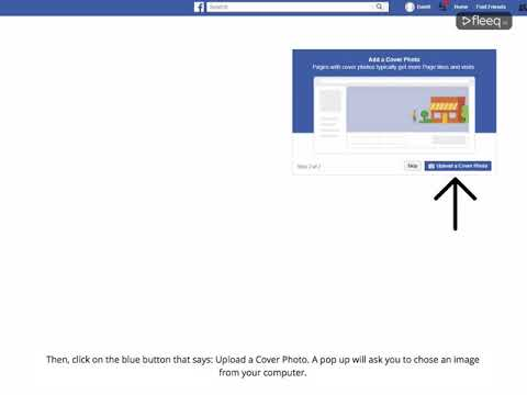 Upload a cover photo on Facebook business page