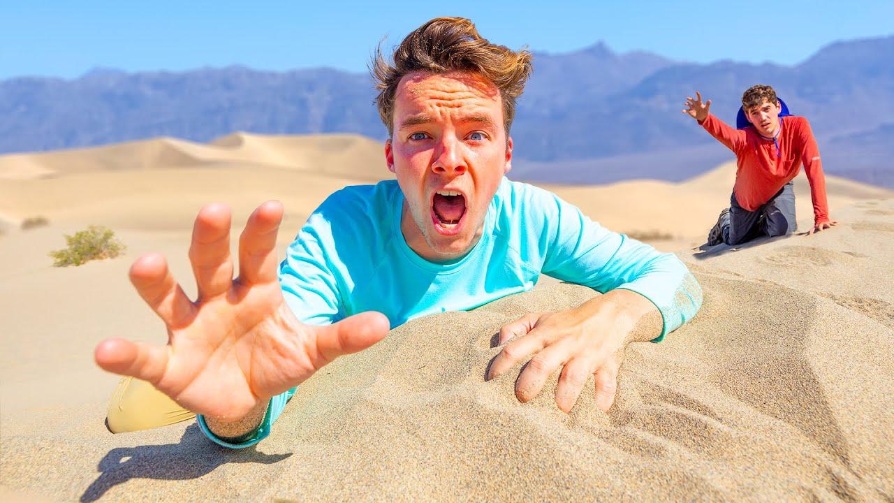 Stranded In The WORLD'S HOTTEST DESERT for 24 hours!