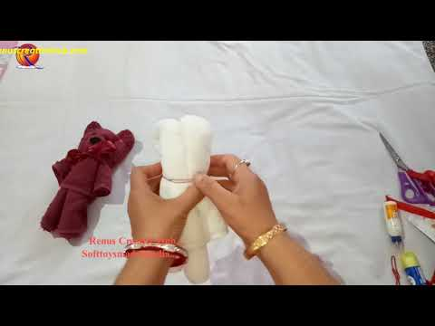 How to make Towel Teddy Bear at home in easy hindi