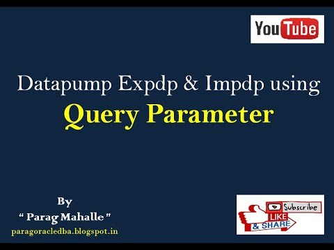 Query Parameter in Oracle Datapump