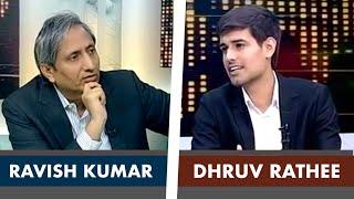 Ravish Kumar Interviews Dhruv Rathee on NDTV Prime Time   Full Interview