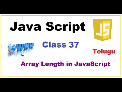 Array Length Property Javascript  --  Telugu 35-vlr training