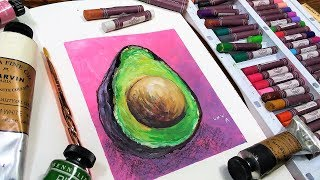 Download Oil Pastel Avocado Sketchbook Sunday Video