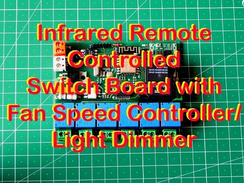 Infrared Remote Controlled Switch Board with Fan Speed Controller Light Dimmer