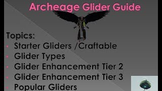 Archeage New Glider - Ravenspine Wings Overview - PakVim net