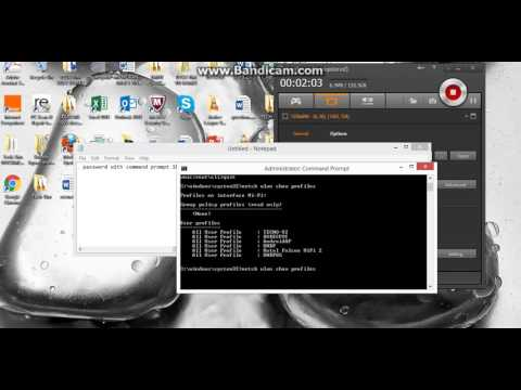 Hack  Any Wifi password using Command Prompt