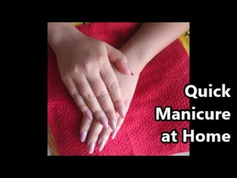 Quick Manicure at Home - Get Soft Clean and Beautiful Hands - Winter Hand care