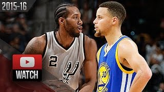 Kawhi Leonard vs Stephen Curry EPIC Battle Highlights (2016.03.19) Spurs vs Warriors - WCF Preview?