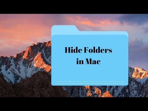 How To Hide Folder In Mac OS Sierra!