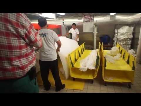 Linen Automatic Folding Machine on Cruise Ship