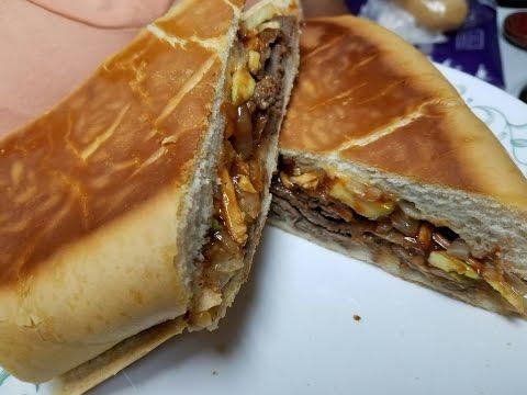 Sandwich de Bistec en Pan Cubano
