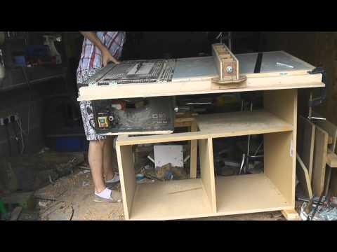 Building a Tablesaw Stand with Router Extention