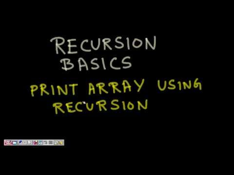Programming Interview: Print Array + Print Reverse of Array using Recursion