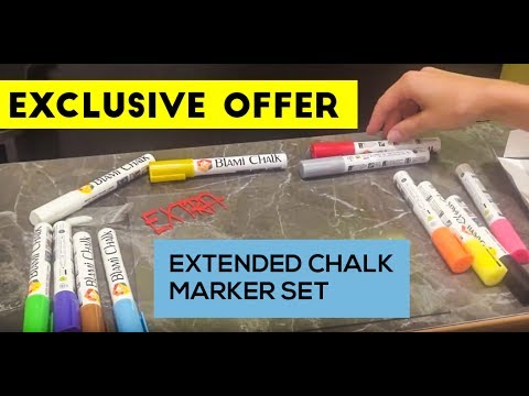 Exclusive offer of extended chalk marker set from Blami Arts