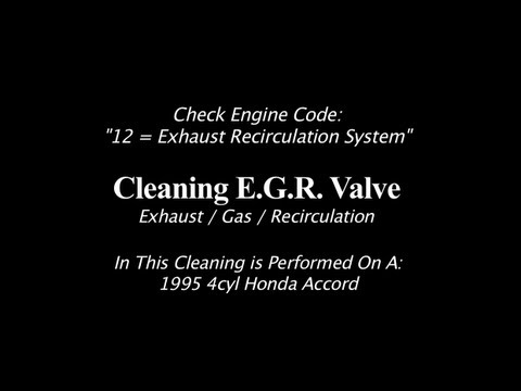 EGR Valve Assembly Cleaning | 1995 4cyl Honda Accord
