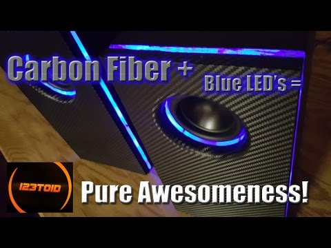 How to build Carbon Fiber LED Speakers FREE Build plans!