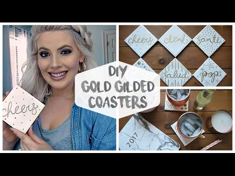 DIY Gold Gilded Coasters