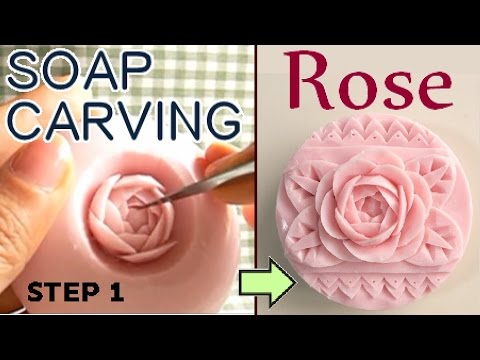 Soap carving tutorial for carving a rose. (step 1)