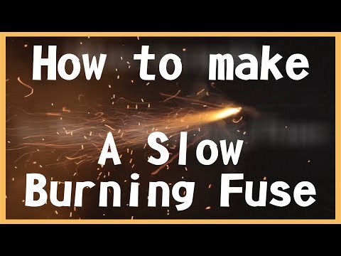 How to make a slow burning fuse