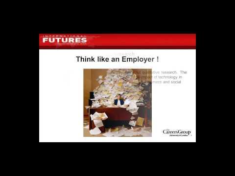 International Futures: Writing UK CVs and Application Forms